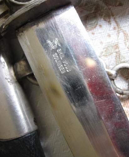 1st model Luftwaffe dagger,,Emil Voss''