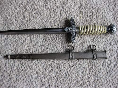 Newly Purchased 2nd Luftwaffe Dagger