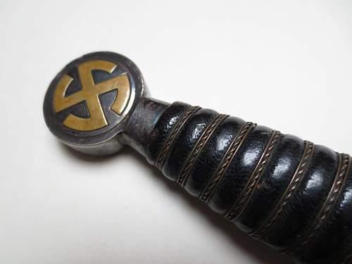 1st model luftwaffe dagger by Paul Weyersberg