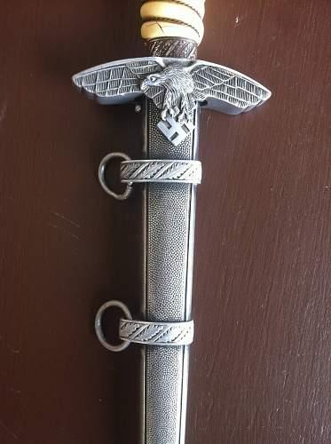 2nd Model Luftwaffe Officer's Dagger Anton Wingen