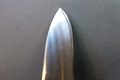 Mint Fallschirmjager Kappmesser, 1st model Gravity Knife by SMF