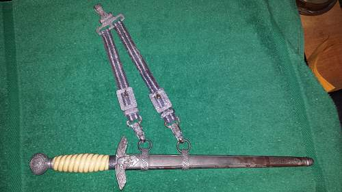 unmarked 2nd model no scabbard