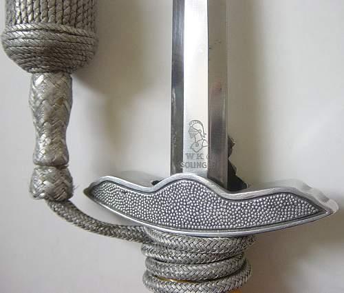2nd pattern Lufwaffe dagger by WKC (Flieger Offizier Dolch)