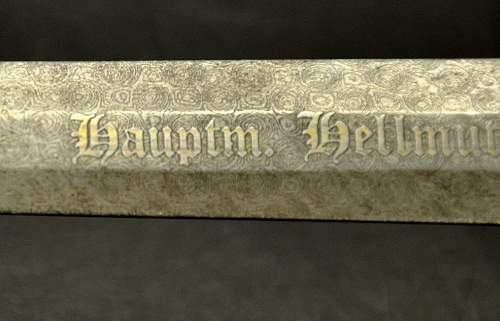 1st Model  w/ Damascus pattern blade @ auction