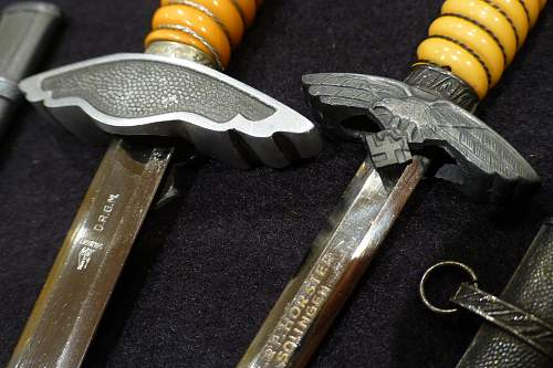 LW 2nd pattern Dagger by WKC with his 2 little brothers