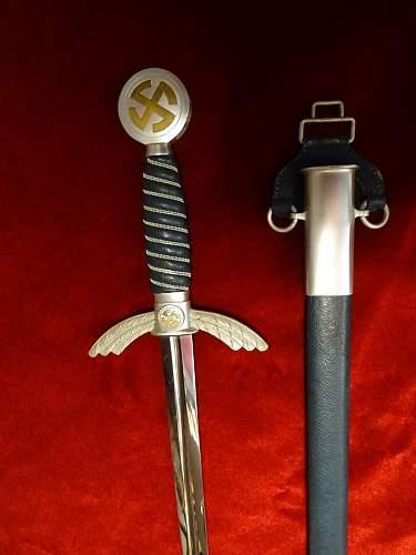 New Alloy Luftwaffe sword pickup