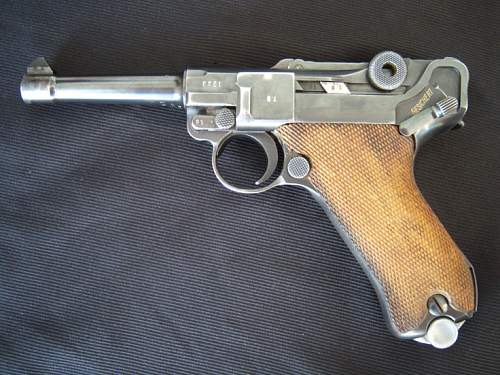 1939 P08 Luger added to collection