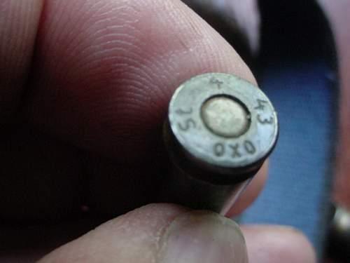42 Luger,clip still loaded