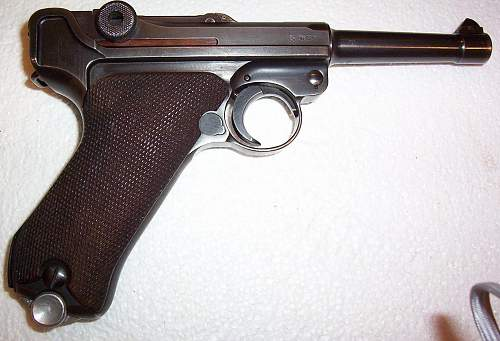 My 1939 dated, 42 Luger pistol. A rare, transitional, variation. Only five reported so far in the world.