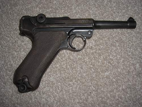 german p08 luger and holster all matching serials and original holster