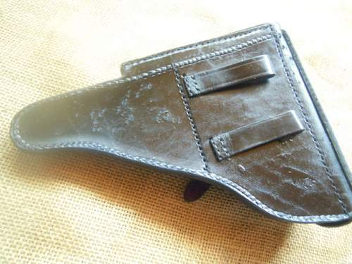 Holster P08  with HK marking a Navy anchor