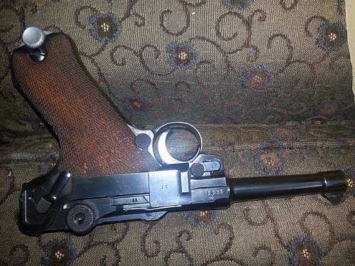 1939 Mauser Banner with 39 Police Lugger and SS police sword