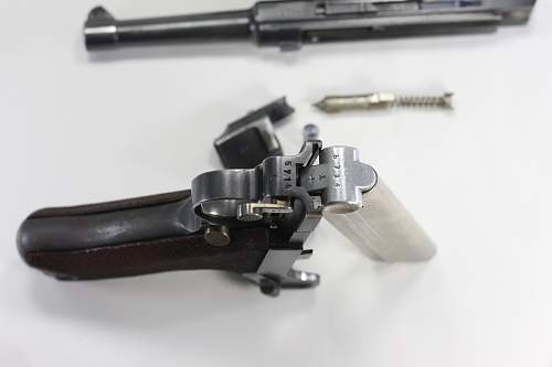 1936 Luger with matching mag.