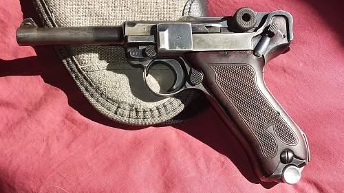 1914 DWM P-08 Unit Marked Luger