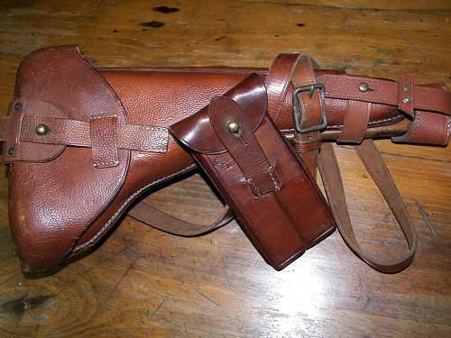 Luger Shoulder stock/ holster