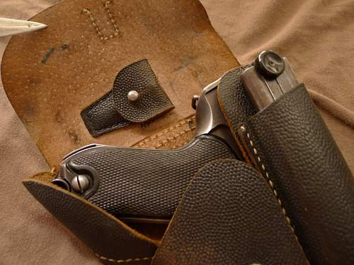 """Quite the Holy Grail Late War Pebbled Pigskin Soft Shell """"Breakaway"""" Polizei P.08 Luger Holster!!!"""