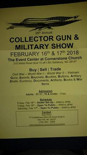 Salisbury, n.c. Militaria show