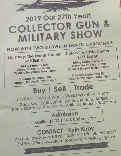 Salisbury  n.c. Militaria collectors show