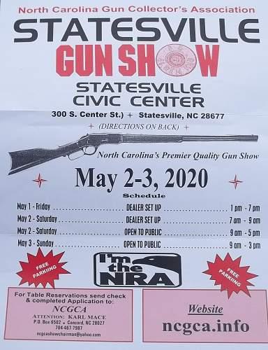 Ncgca statesville n.c. Gun show