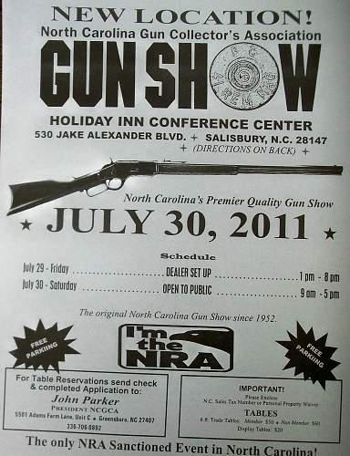 NCGCA  Gun and Militaria Show