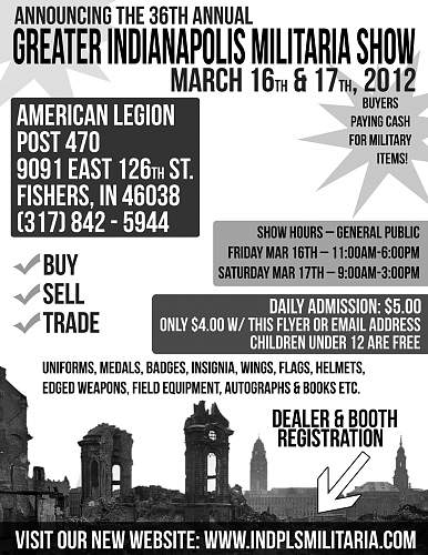 Indianapolis Militaria Show this Weekend!