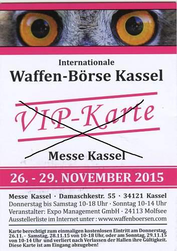 Kassel show info needed