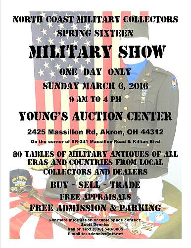 Military Show Akron, Ohio March 6th 2016 FREE!