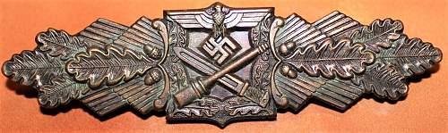 Nahkampfspange in Bronze F&BL maker