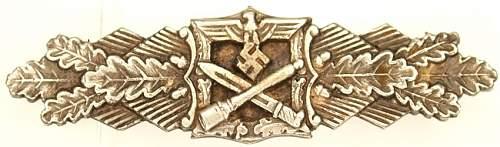 Nahkampfspange in Silver.