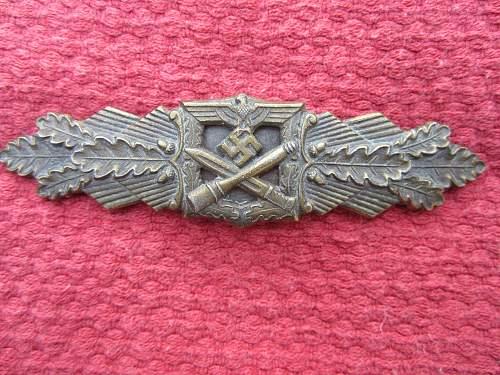 Nahkampfspange in bronze by FLL