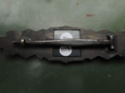 Nahkampfspange in bronze JFS (original?.)
