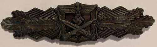 Nahkampfspange in Bronze, Real?