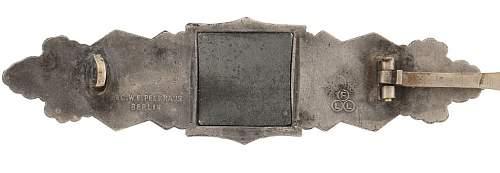 Nahkampfspange im Silber