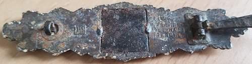 Nahkampfspange in Bronze, JFS?