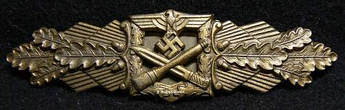 FFL nahkampfspangen silver degree