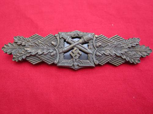 Nahkampspange Maker A.G.M. u. K in Bronze Confirmation Please