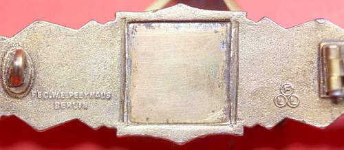Question about a FLL Nahkampfspange in Bronze