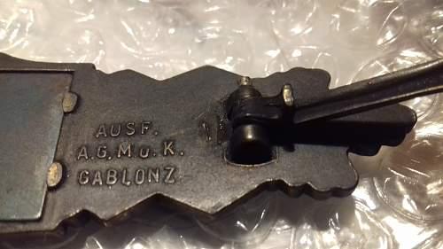 Nahkampfspange in Bronze?