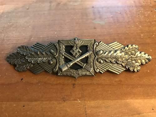 Bronze Nahkampfspange F&BL, recent aquisition