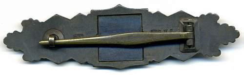 Nahkampfspange in Bronze by JFS
