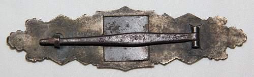 Bronze Nahkampfspange by JFS