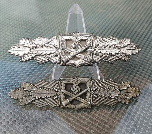 Silber Nahkampfspange by FLL