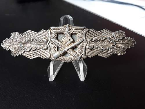 Nahkampfspange in Silber, 6 dot