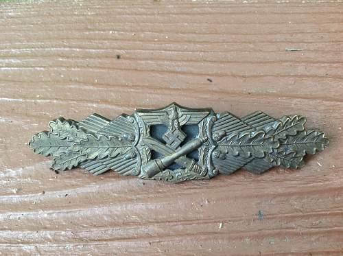 Nahkampfspange Bronze Grade F&B L