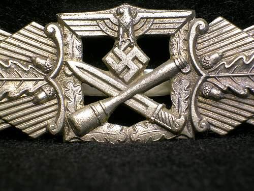 Nahkampfspange in silver (Unmarked)