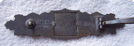Nahkampfspange in Bronze by JFS.