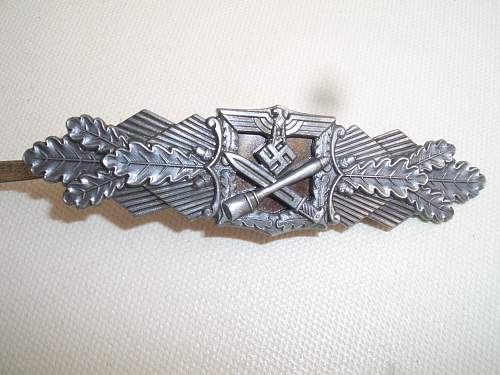 Nahkampfspange  silver, Original??