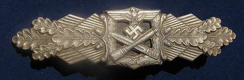 Nahkampfspange FLL  -  silver