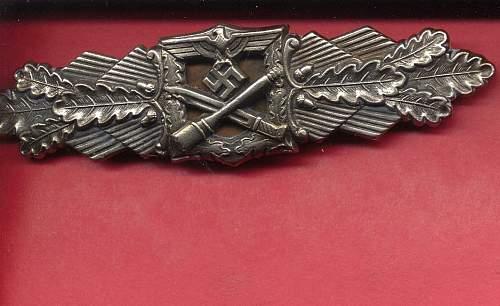 FLL Nahkampfspange in Silver....Original??