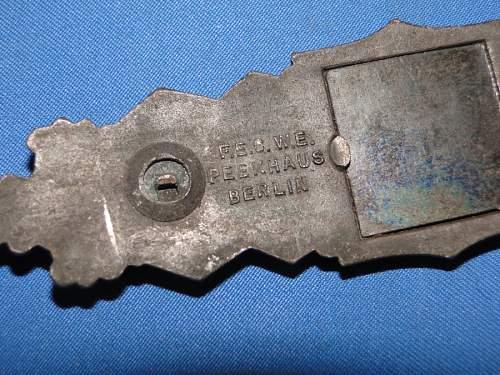 JFS Nahkampfspange in Bronze.